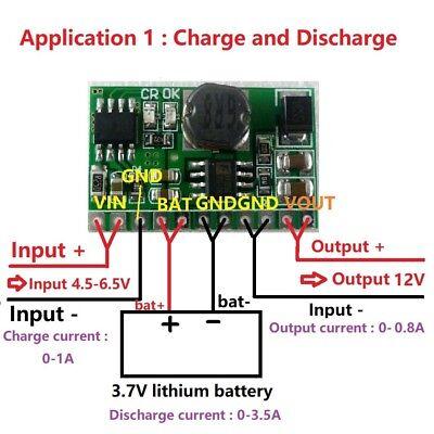 10w 3.7v 4.2v Charger 5v 6v 9v 12v Discharger Dc Dc Converter Boost Ups Module
