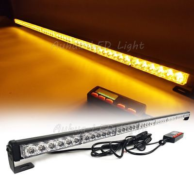 47 144w Led Flash Traffic Advisor Emergency Warning Amber Roof Strobe Lightbar