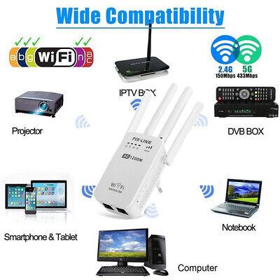 1200Mbps AMPLIFICATORE SEGNALE WIFI REPEATER DA ESTERNO 5Ghz RIPETITORE RETE LAN