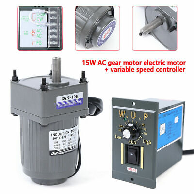 Ac Gear Motor Reversible Electric Variable Speed Reduction Controller 110 New