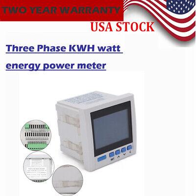 Ac 380v 5a Digital Display Three-phase 3p Ammeter Voltmeter Watt Meter New