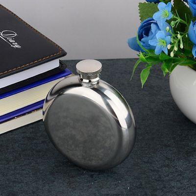 Tool Wine Flasks Round 5OZ Portable Flagon Pocket Bottle Glossy Specular - Round Flask