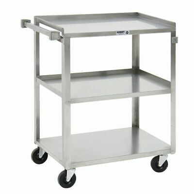 Hubert Utility Cart With 3 Shelves Stainless Steel - 27 12l X 16 14w X 32