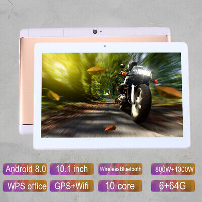 Ten Core 10.1 Inch HD Game Tablet Computer GPS Wifi Dual Camera For Android 8.0