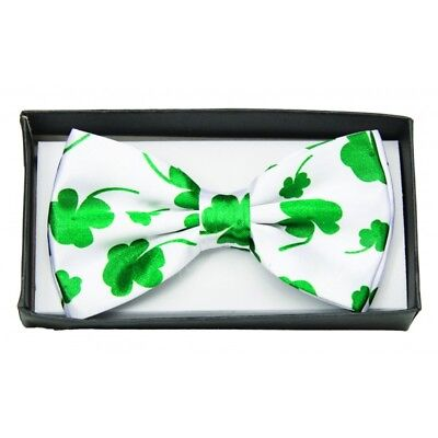 Four Leaf Clover Bow Tie Adult Costume Accessory Bowtie St Patrick's Day Patty - Halloween Four Leaf Clover