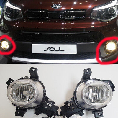 Genuine  Fog Light Lamp LH;RH Connector Set for 2017-2018 KIA Soul
