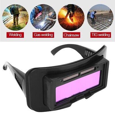 Solar Powered Soldering Welding Eyes Goggles Helmets Auto Darkening Glasses Gear