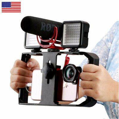 """Cell Phone Stabilizer Rig Video Camera Cage Film Making for iPhone Samsung 4-7"""""""
