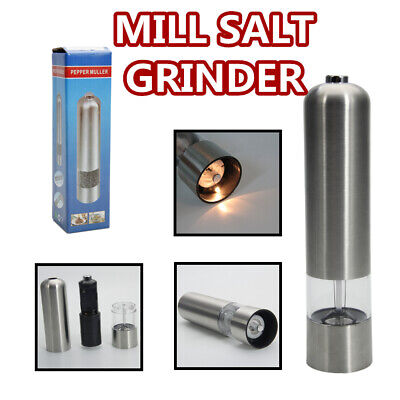 Electric Automatic Mill Muller Tool Pepper Grinder Battery Operated Light Salt