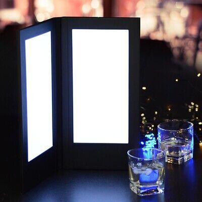 Hotel Led Check Bill Holder Restaurant Wine List Drink Menu Cover With Lighting