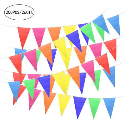 Party Decoration Home & Living Pennant String Flag Multicoloure Bunting Banner
