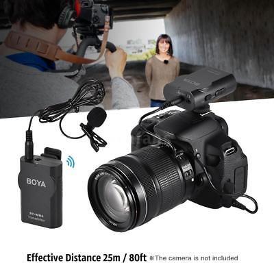 BOYA BY-WM4 2.4GHz Wireless Lavalier Lapel Microphone for Smartphone DSLR Camera