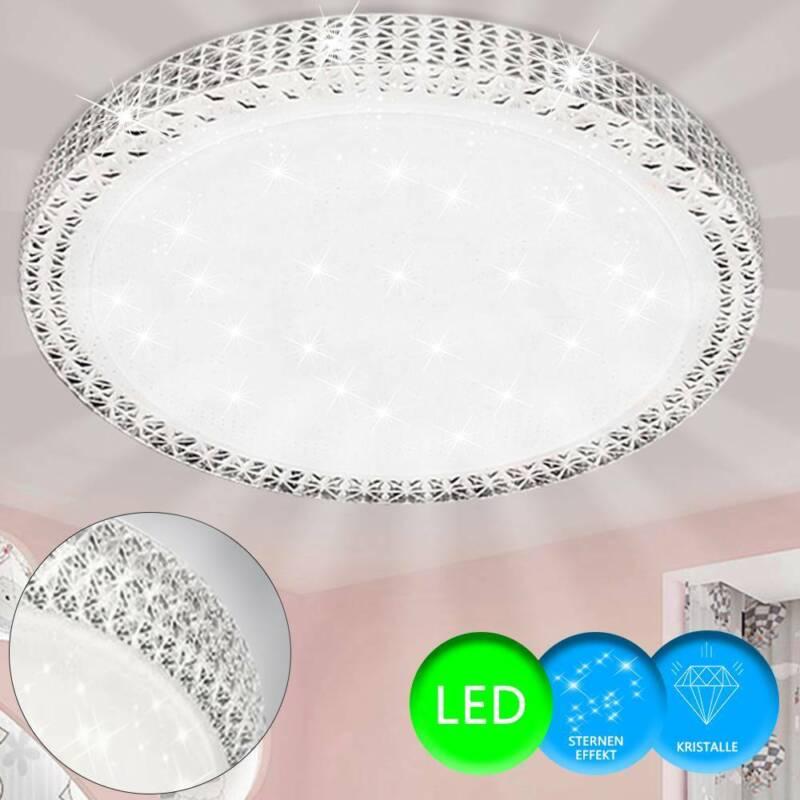 Luxus LED Deckenleuchte Lampe Kristall Sternen Himmeleffekt Schlafzimmer