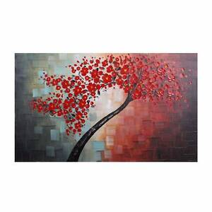Autumn Tree Hand Painted Wall Art - 100cm Framed Canvas Sydney City Inner Sydney Preview