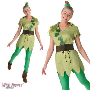 FANCY-DRESS-COSTUME-LADIES-DISNEY-CLASSIC-PETER-PAN-SIZE-8-18