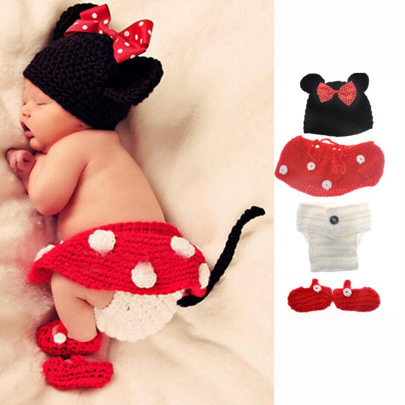 Mickey Mouse Kinder Baby Strick Mütze Minnie Fotoshooting ...