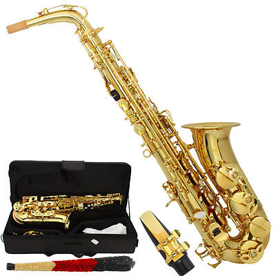 Brand New Alto Eb Saxophone Sax Gold with Case Mouthpiece Reeds High Quality on Rummage
