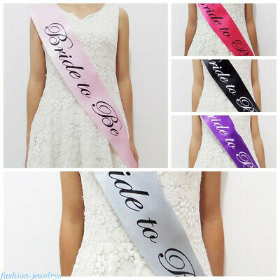 1Pc Bachelorette Party Sashes Bride to Be Sash Maid Honor Bridesmaid Accessories