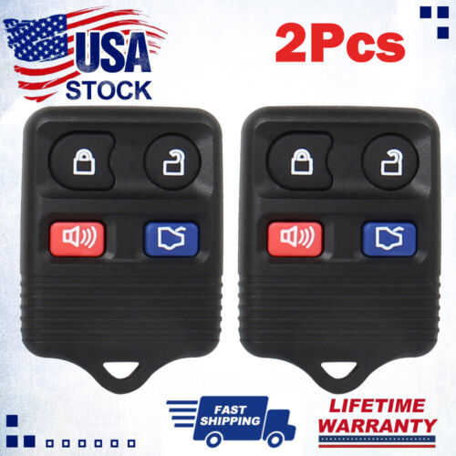 2Pcs New Replacement Car Auto Keyless Entry Remote Control Key Fob HOT!