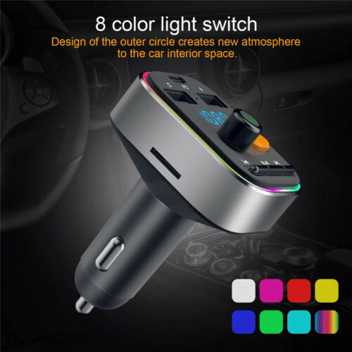 Wireless In-Car Bluetooth 5.0 FM Transmitter MP3 Radio Adapter Car USB Charger Consumer Electronics