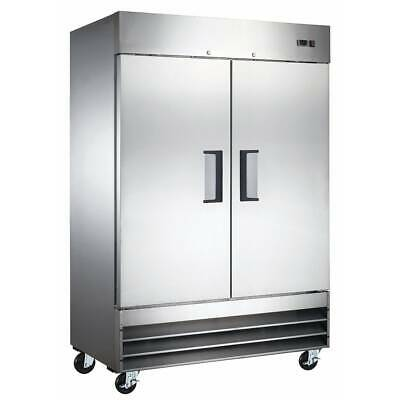 2 Solid Door Reach In Refrigerator