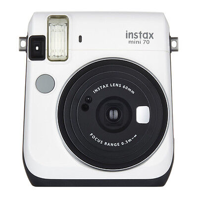 Moon White Colour FujiFilm Instax Mini 70 Instant Photos Films Polaroid Camera