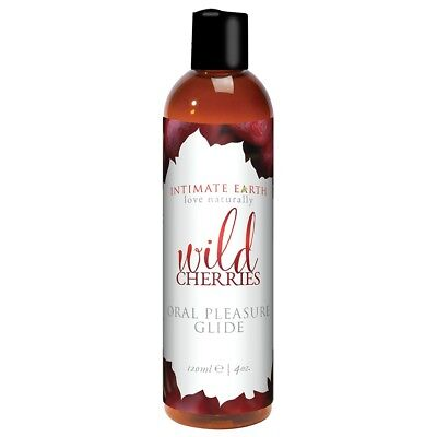 Intimate Earth Oral Pleasure Glide Wild Cherries 4 Ounce  Flavor Pleasure Oil