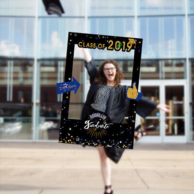 Class of 2019 Graduation Photo Booth Props Frame Congratulations Party Favors GI
