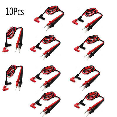 10x Universal Replacement Pair Test Lead Cable Probe Digital Multimeters Testing