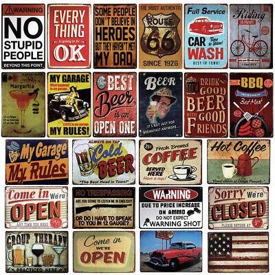 Buy 2 Get 1 Free,Retro Metal Tin Sign Wall Decor Plaque Bar Pub Poster Home Club 2 Retro Signs