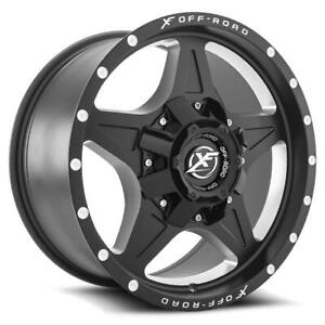 XF OFFROAD XF210 18X9 8X170/180 ET-12 CB125.2 MATTE BLACK MILLING -SET OF 4 FREE SHIPPING