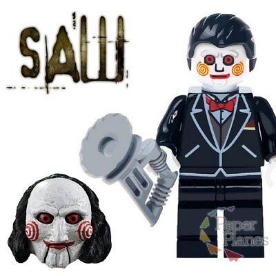 Billy the Puppet Maßgeschneidert Minifigur Passt Lego Toy Halloween Saw 7 WM323 ()