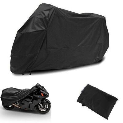 """104"""" Motorcycle Motor Bike Scooter Waterproof UV Dust Protector Rain Cover Black"""