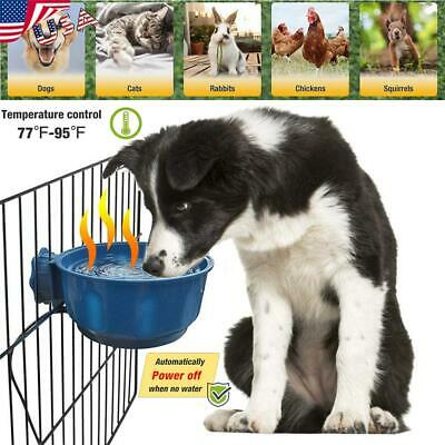 Puppy Cat Dog Animal Pet Animal Feeding Food Water USB Auto Heated Bowl Basin US Auto Pet Water