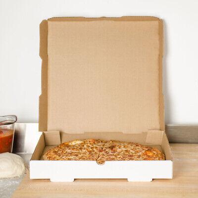 50 Pack White Corrugated Plain Pizza Bakery Box Square Unprinted Multi-sizes