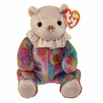 "TY Beanie Babies 7"" Birthday Teddy Bear ** OCTOBER ** New W/"