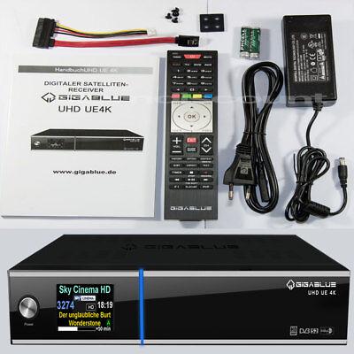 GigaBlue UHD UE 4K SAT Receiver 2x FBC DVB-S2 inkl. OpenATV 6.1 E2 IPTV HDTV online kaufen