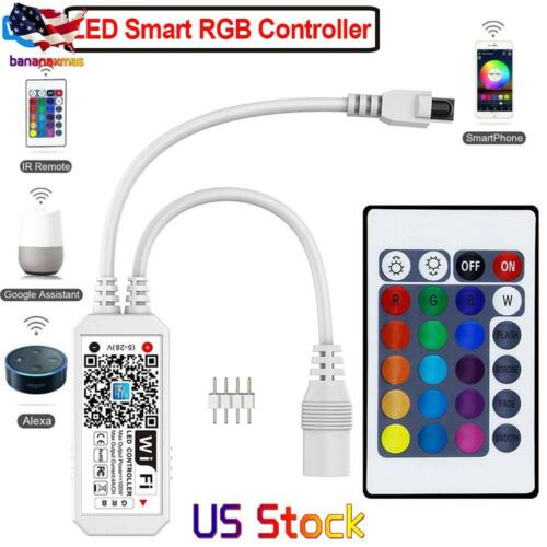 Wireless Smart WiFi LED RGB Light Strip Music Controller For