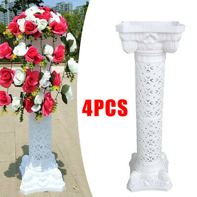 Plastic Roman Columns (4 Pillars/Set Plastic Venetian Roman Wedding Columns Holds Flower Plates)