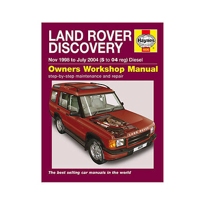 Land Rover Discovery 2.5 Diesel 1998-04 (S to 04 Reg) Haynes Manual