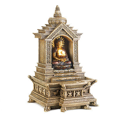 Golden Buddha Temple Electric Water Fountain