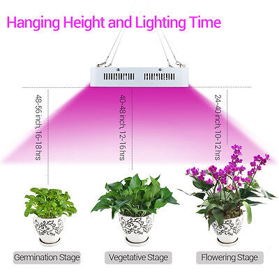 300W LED Grow Light Panel Indoor Plant Hydroponic Veg Flower Seed Full Spectrum