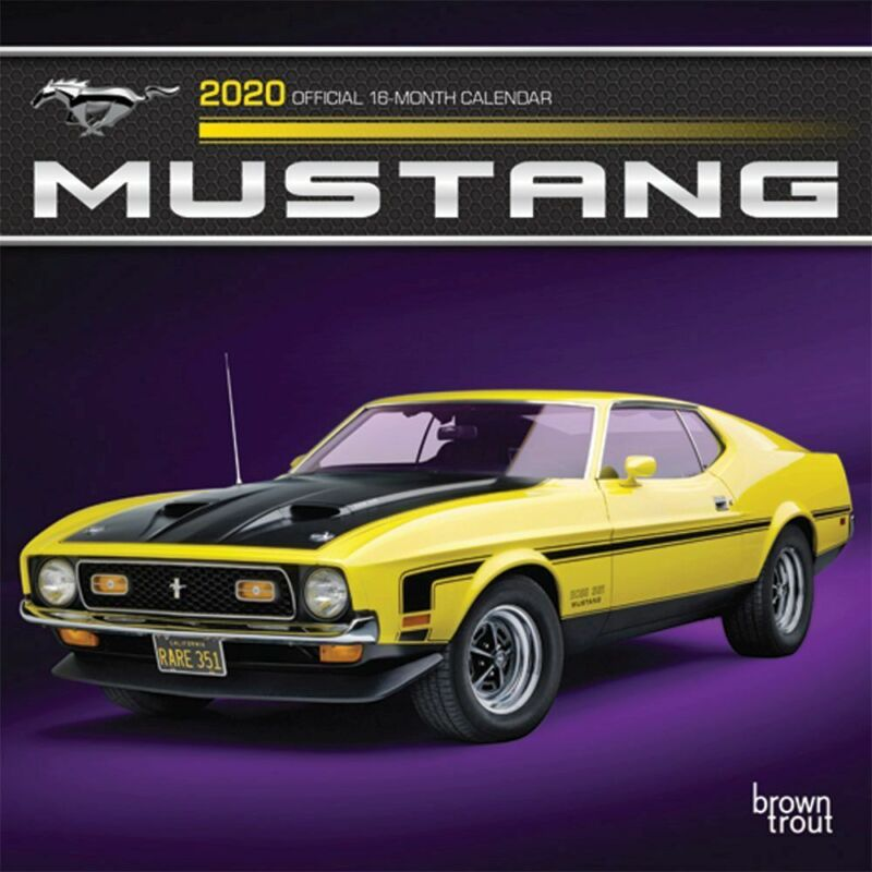 BrownTrout, 2020 Mustangs Mini Wall Calendar - Full Color Pages & All Major