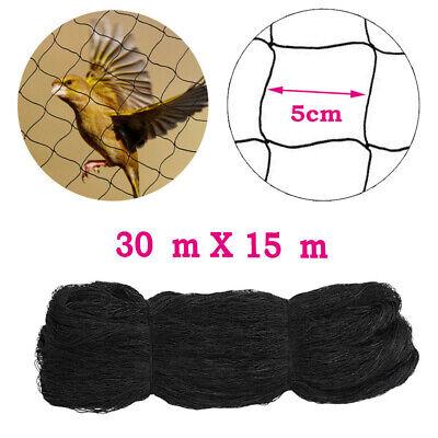 Anti Bird Netting 100x50 Soccer Baseball Game Poultry Fish Net 2x2 Mesh Black