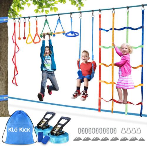 Ninja Slackline Set hängende Hindernisse für Kinder Schwingen Polyester outdoor
