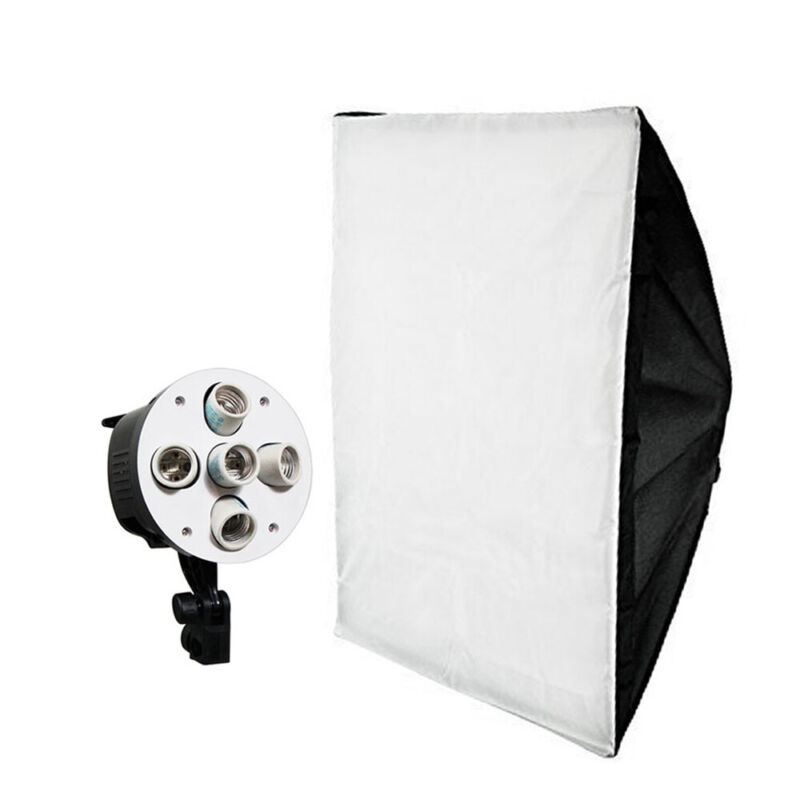 """20"""" x 28"""" Softbox Reflector with 5-Bulb Socket and White Diffuser Cover"""