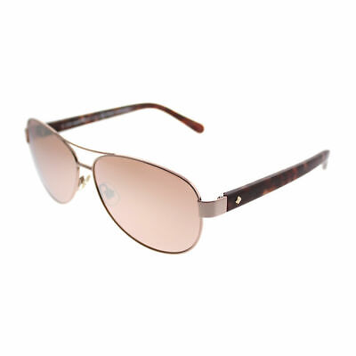 Kate Spade Dalia 2 AU2 Rose Gold Metal Aviator Sunglasses Rose Mirror (Mirrored Aviator Sunglasses Rose Gold)