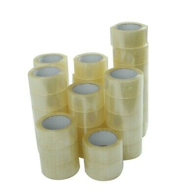 1-6-12-18-24-36-72 Rolls Clear Packing Boxes Carton Sealing Tape 2 X 55 Yards