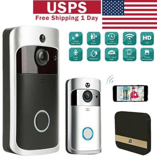 smart wifi doorbell camera video wireless app