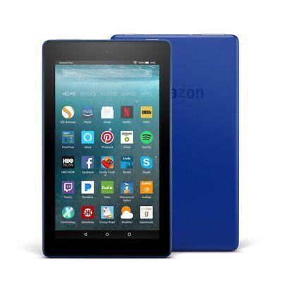 All New Amazon Fire Slim Tablet 7 W  Alexa Wi Fi 8Gb 720P Hd Video  Marine Blue
